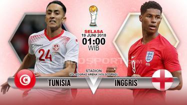 Tunisia menghadapi Inggris di penyisihan Grup G Piala Dunia 2018. - INDOSPORT