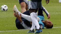 Indosport - Kylan Mbappe alami cedera saat sesi latihan.
