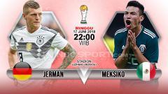 Indosport - Jerman vs Meksiko di Piala Dunia 2018.