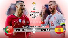 Indosport - Portugal vs Spanyol.