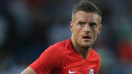 Jamie Vardy, striker Timnas Inggris. - INDOSPORT