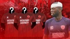 Indosport - Bruce Djite, pemain PSM Makassar.