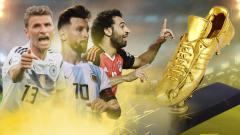 Indosport - Thomas Mueller, Lionel Messi, dan Mohamed Salah.