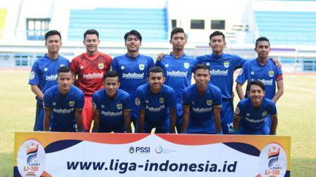 Skuat Persib Bandung U-19 di Liga 1 U-19 2018. - INDOSPORT