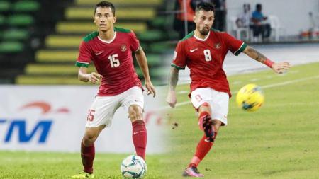 Stefano Lilipaly (kanan) dan Ricky Fajrin. - INDOSPORT