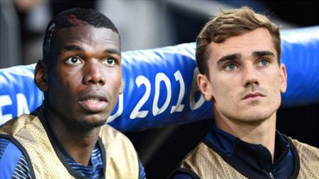 Paul Pogba dan Antoine Griezmann timnas Prancis untuk Piala Dunia 2018. - INDOSPORT