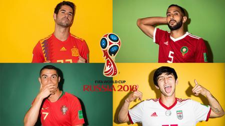 Grup B Piala Dunia 2018: Iran, Maroko, Portugal, Spanyol. - INDOSPORT