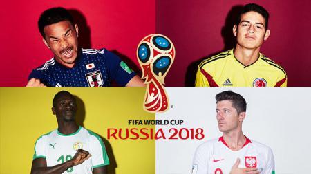 Grup H Piala Dunia 2018: Jepang, Kolombia, Polandia, Senegal. - INDOSPORT