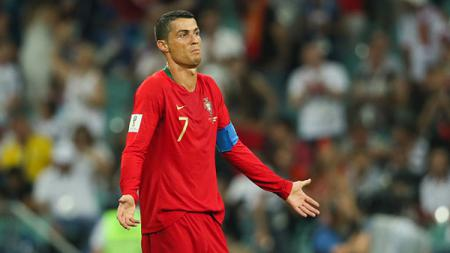 Ekspresi Cristiano Ronaldo di ajang Piala Dunia 2018. - INDOSPORT