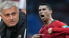 Indosport - Pelatih Man United, Jose Mourinho dan Cristiano Ronaldo, pemain megabintang Timnas Portugal.