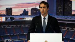 Indosport - Julen Lopetegui kala diperkenalkan sebagai pelatih anyar Real Madrid.