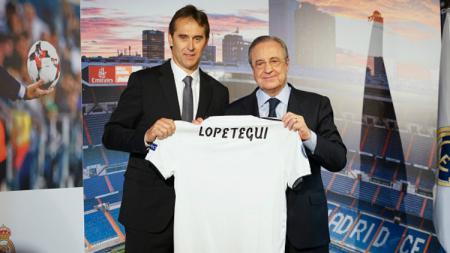 Julen Lopetegui kala diperkenalkan sebagai pelatih anyar Real Madrid. - INDOSPORT
