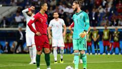 Indosport - Intimidasi De Gea kepada Ronaldo di ajang Piala Dunia 2018.