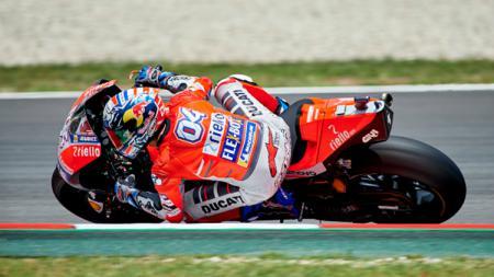 Andrea Dovizioso dalam sesi latihan bebas MotoGP Catalunya 2018. - INDOSPORT