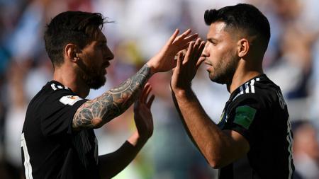 Lionel Messi dan Sergio Aguero di Piala Dunia 2018 - INDOSPORT