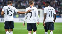 Indosport - Mbappe, Griezmann, dan Dembele di Timnas Prancis