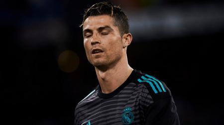 Cristiano Ronaldo dengan jersey latihan Real Madrid - INDOSPORT