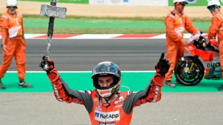 Jorge Lorenzo menang MotoGP Catalunya 2018. - INDOSPORT