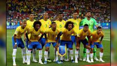 Indosport - Timnas Brasil di Piala Dunia 2018.