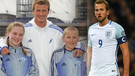 David Beckham bersama Harry Kane sewaktu kecil - INDOSPORT