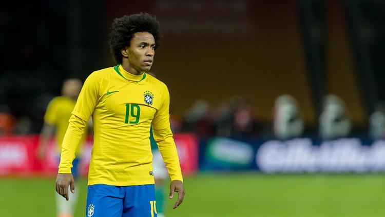 Willian, gelandang serang Timnas Brasil. Copyright: Getty Images