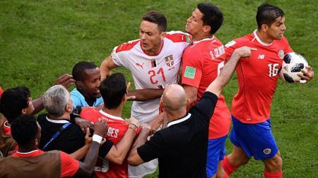 Nemanja Matic mengamuk ke pelatih Kosta Rika
