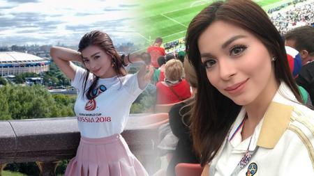 Sandra Olga ketika berada di Rusia - INDOSPORT