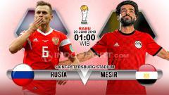 Indosport - Rusia menghadapi Mesir di penyisihan Grup A Piala Dunia 2018.