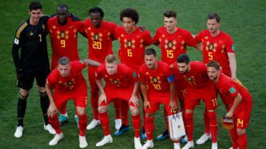 Starting line-up Timnas Belgia berfoto sebelum laga menghadapi Panama, Grup F Piala Dunia 2018, Senin (18/06/18) malam. - INDOSPORT