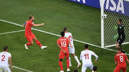 Pertandingan antara Inggris vs Tunisia di Piala Dunia 2018. - INDOSPORT