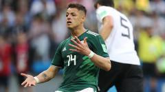 Indosport - Javier Hernandez, striker Timnas Meksiko.