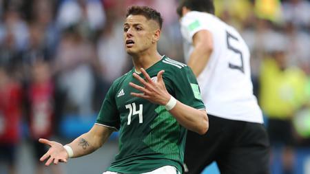 Javier Hernandez, striker Timnas Meksiko. - INDOSPORT