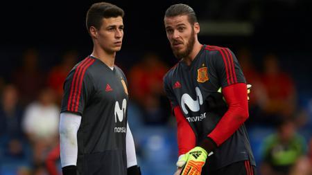 Kepa Arrizabalaga dan David De Gea, dua kiper Timnas Spanyol di Piala Dunia 2018. - INDOSPORT