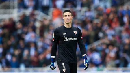 Kepa Arrizabalaga, kiper Timnas Spanyol dari klub Atletic Bilbao. - INDOSPORT