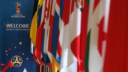 Bendera-bendera kontestan Piala Dunia 2018. - INDOSPORT