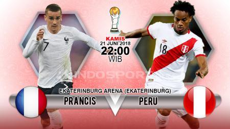 Prancis vs Peru untuk Piala Dunia 2018. - INDOSPORT