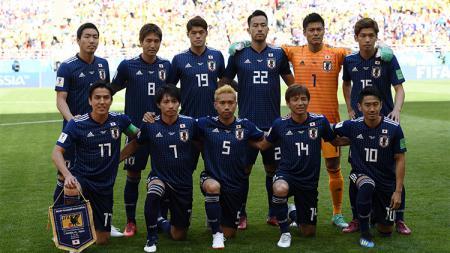 Skuat Timnas Jepang saat berlaga di Piala Dunia 2018. - INDOSPORT