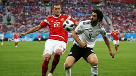 Situasi pertandingan Rusia vs Mesir di Piala Dunia 2018. - INDOSPORT