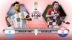 Indosport - Argentina vs Kroasia