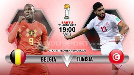 Belgia menghadapi Tunisia di penyisihan Grup G Piala Dunia 2018. - INDOSPORT