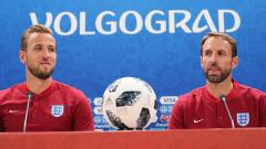 Indosport - Striker dan pelatih Timnas Inggris, Harry Kane (kiri) dan Gareth Southgate.