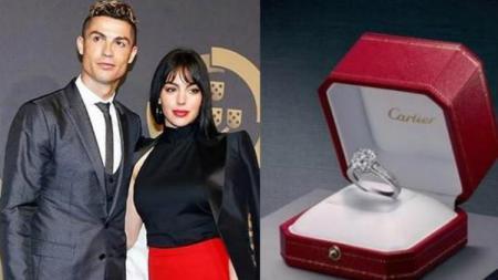 Cincin Cartier kekasih Cristiano Ronaldo untuk Georgina Rodriguez. - INDOSPORT