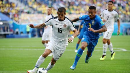 Gabriel Jesus saat laga Brasil vs Kosta Rika di Piala Dunia 2018 - INDOSPORT
