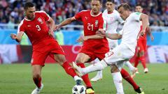 Indosport - Serbia vs Swiss di Piala Dunia 2018.