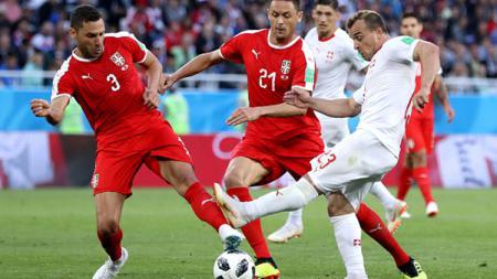 Serbia vs Swiss di Piala Dunia 2018. - INDOSPORT