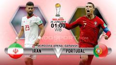 Indosport - Iran vs Portugal di Piala Dunia 2018.