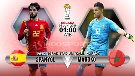 Spanyol vs Maroko - INDOSPORT