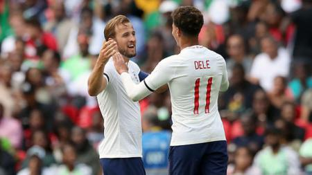 Harry Kane dan Dele Alli, dua pemain bintang Timnas Inggris dan Tottenham Hotspur. - INDOSPORT