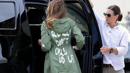 Istri Presiden Amerika Serikat Donal Trump, Melania Trump. - INDOSPORT