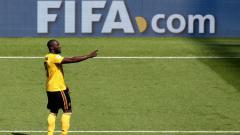 Indosport - Romelu Lukaku dalam laga kedua Grup G Piala Dunia 2018, antara Belgia vs Tunisia